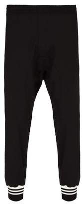Neil Barrett Striped Cuff Track Pants - Mens - Black Multi