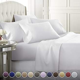 +Hotel by K-bros&Co Danjor Linens 6 Piece Hotel Luxury Soft 1800 Series Premium Bed Sheets Set