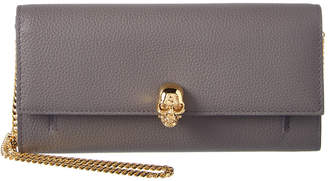 Alexander McQueen Skull Leather Continental Wallet On Chain