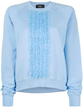 DSQUARED2 ruffle trim sweatshirt