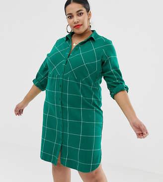 Junarose Check Shirt Dress