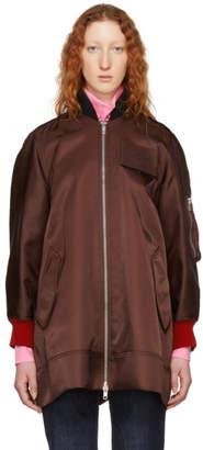 Calvin Klein Burgundy Oversized Bomber Jacket
