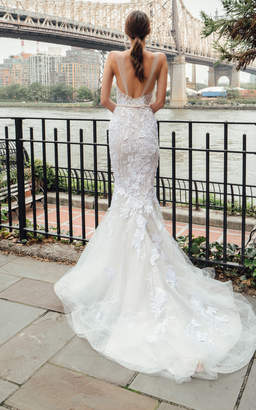 Mira Zwillinger Fabiola Mermaid Lace Gown With Train