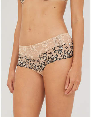 Aubade Poesie high-rise floral-lace briefs