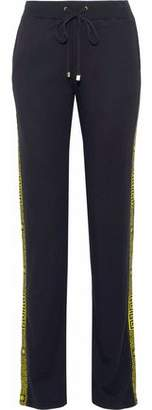 Versace Woven-Trimmed Stretch-Jersey Track Pants