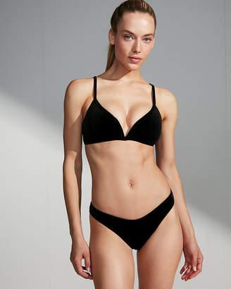 Express Velvet Ultra High Leg Cheeky Bikini Bottoms