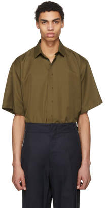 Jil Sander Green Silk Shirt