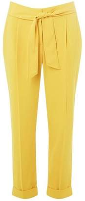 Dorothy Perkins Womens Yellow Tie Tapered Trousers
