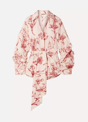 Johanna Ortiz Rushcutters Bay Printed Cotton-poplin Shirt - Blush