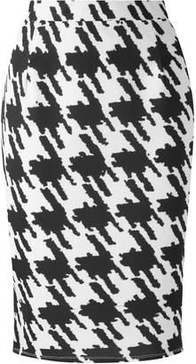 Evans **Grace Black Printed Pencil Skirt