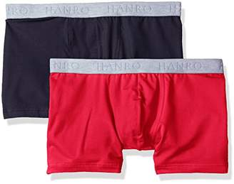 Hanro Men's Cotton Essentials Boxer Brief 2-Pack