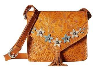American West Flower Power Flap Crossbody Bag