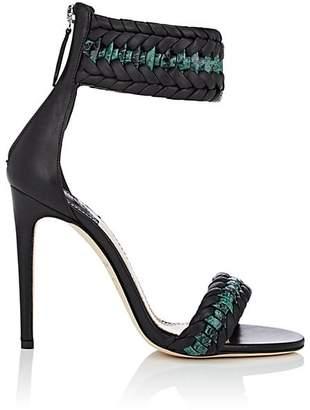 Altuzarra Women's Leather & Python Braided Ankle-Strap Sandals