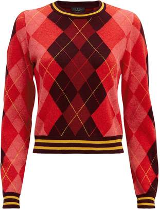 Rag & Bone Dex Argyle Sweater