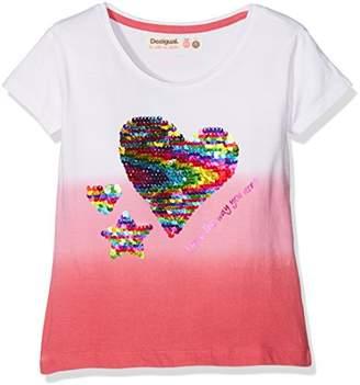 Desigual Girl's Ts_Alberta T-Shirt,(Manufacturer Size: 9/10)