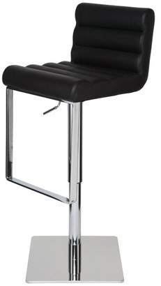 Nuevoliving Fanning Leather Adjustable Stool