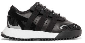 adidas By Alexander Wang - Wangbody Run Mesh, Suede And Leather Sneakers - Black