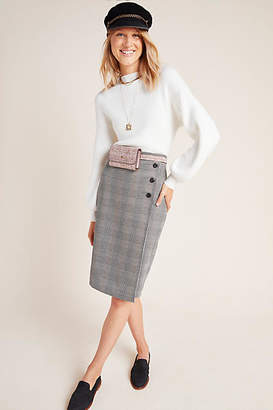 Sanctuary Plaid Pencil Wrap Skirt