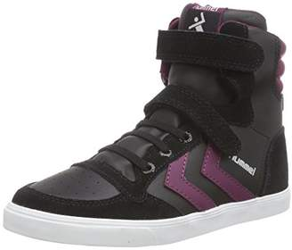 Hummel Unisex Kids SL Stadil Elastic JR HI High-top Trainers Black Size: