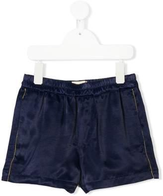 Bellerose Kids velour track shorts
