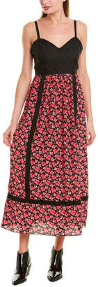 Anna Sui Wildflowers In The Wind Silk Maxi Dress