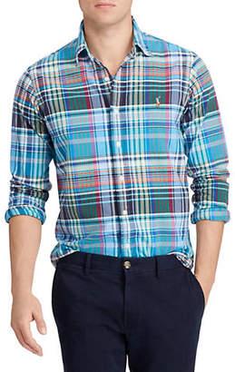 Polo Ralph Lauren Plaid Polo Cotton Oxford Shirt