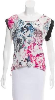 Rebecca Minkoff Printed Cap Sleeve Blouse