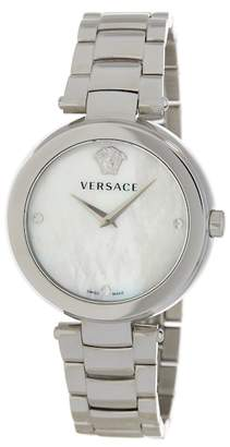 Versace Stainless Steel Case White Dial Metal Watch, 38mm