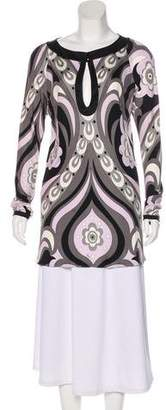 Emilio Pucci Long Sleeve Tunic Top