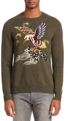 Ralph Lauren Purple Label Embroidered Cashmere& Silk Sweater