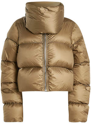 Rick Owens Quilted Funnel Neck Coat