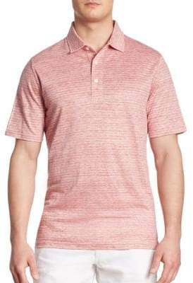Saks Fifth Avenue COLLECTION Striped Regular-Fit Polo