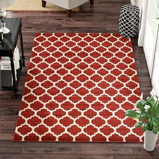 Charlton Home Moore Red Area Rug Charlton Home Rug Size: Rectangle 10' x 13'