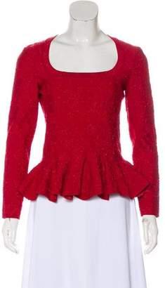 Alaia Embellished Long Sleeve Top w/ Tags