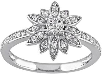Laura Ashley Sterling Silver White Sapphire Starburst Ring $575 thestylecure.com