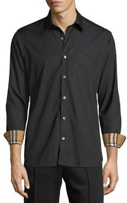 Burberry Men's William Signature Check-Facing Sport Shirt