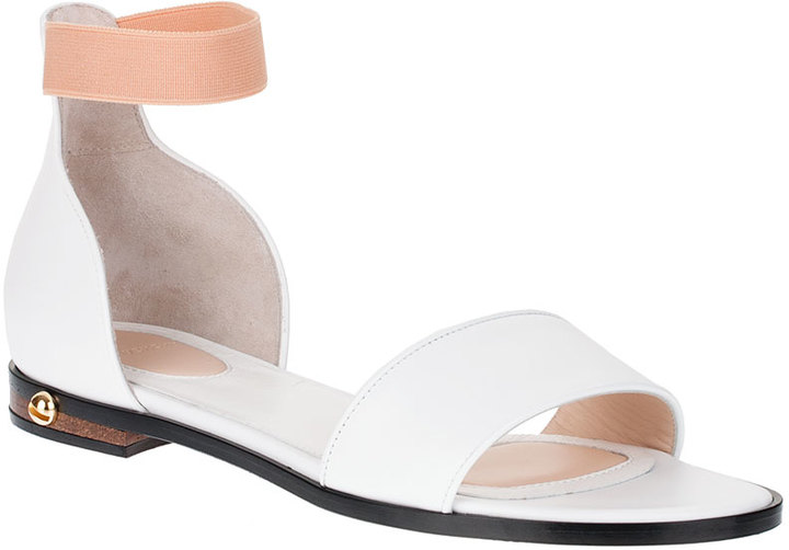 Givenchy White calf leather sandal