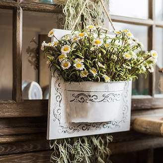 Ophelia & Co. Rustic Eco PE Daisy Hanging Flowering Plant in Planter