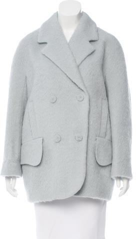 CarvenCarven Virgin Wool Double-Breasted Coat