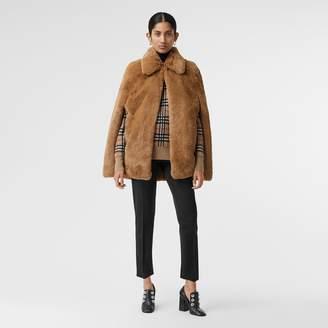 Burberry Faux Fur Cape