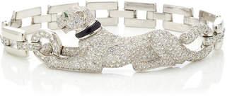 Cartier Vintage 18K White Gold Panthère Bracelet