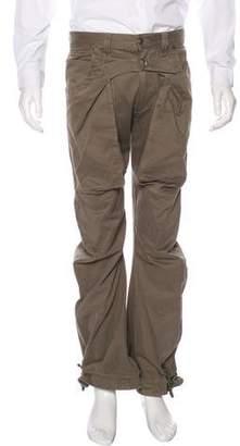 John Galliano Flat Front Bootcut Pants