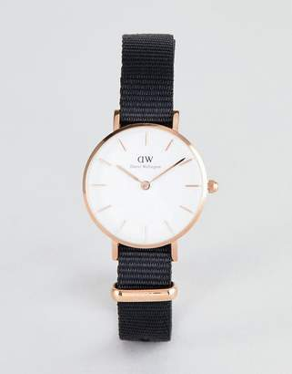 Daniel Wellington Petite Cornwall Watch in Rose Gold with Canvas Strap 28mm