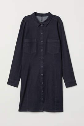 H&M H&M+ Fitted Shirt Dress - Blue