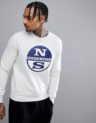 North Sails Lowell Logo Sweatshirt in White