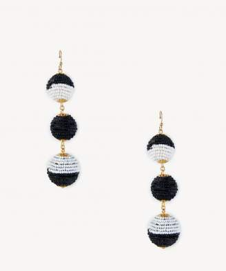 Sole Society Beaded Triple Ball Drop Earrings