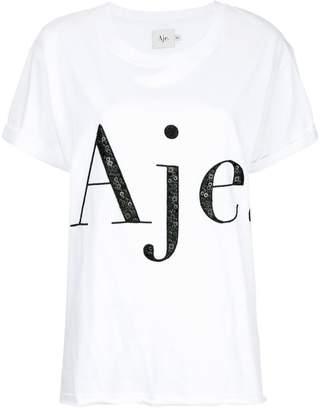 Aje sequin embellished logo T-shirt