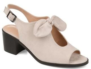 Brinley Co. Womens Bow Accent Peep Toe Sandal