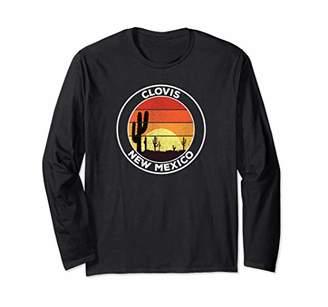 Vintage Clovis NM Gift Desert Sunset Cactus Long Sleeve T-Shirt