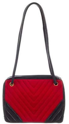 Chanel Chevron Shoulder Bag Red Chevron Shoulder Bag